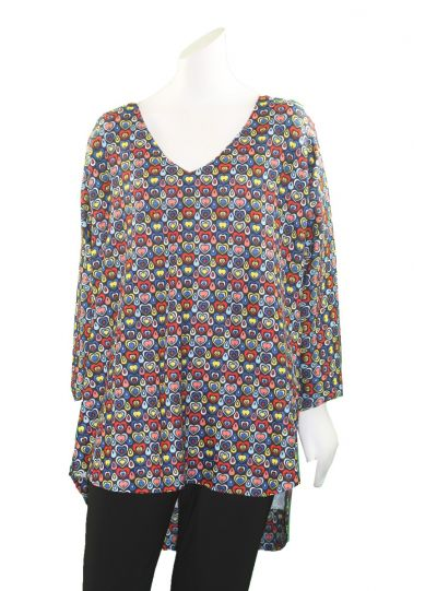 Nally & Millie Plus Size Pullover Hearts Tunic N713455A