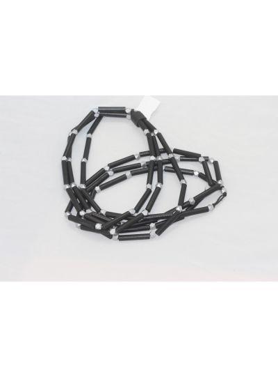 Jianhui Black/Silver 3 Strand Necklace