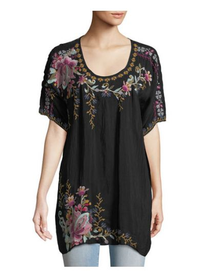 Johnny Was Black Alyssa Tunic C28618-7
