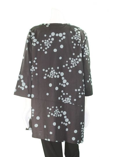 Adverb Plus Size Black/Denim Dots Tunic Only