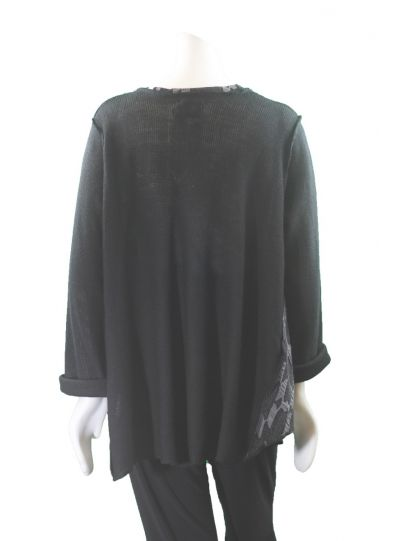 Prisa One Size Black/Grey S Sweater LW-3610