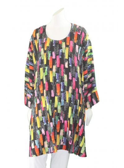 Aino Multi Print Bridie Long Tunic Bianca