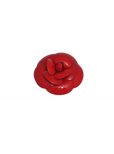 Francoise Montague Large Red Flower Pin Rivka GM
