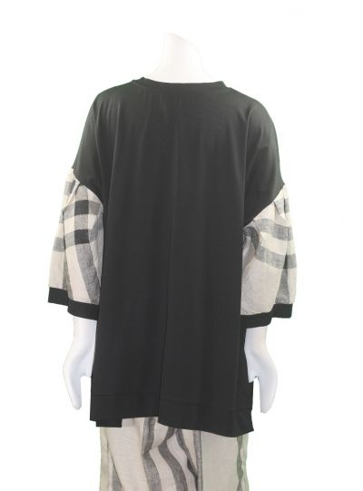 Alembika Black/Plaid Pullover Pocket Tunic RT405K