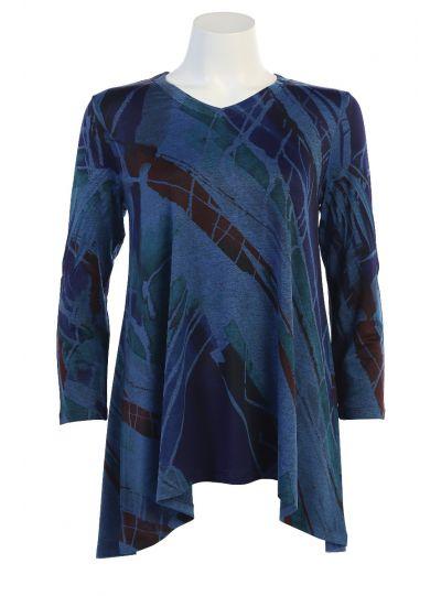 Jess & Jane Plus Size Blue Kairos Shirt SK2-1221X