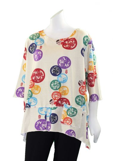 Cupcake Multi Printed Dots One Pocket Tee SP19-1007C