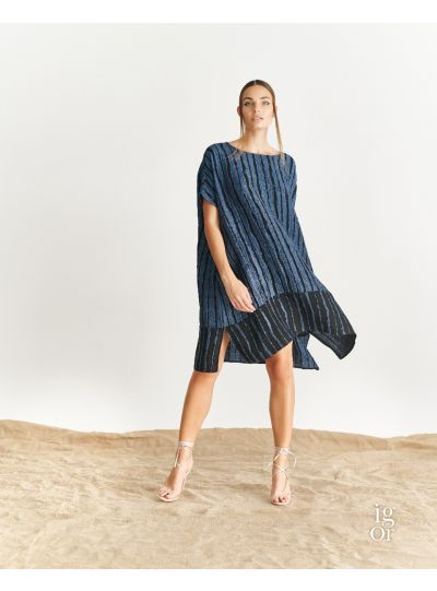 Igor Denim Striped Gwendolyn Dress S19-31