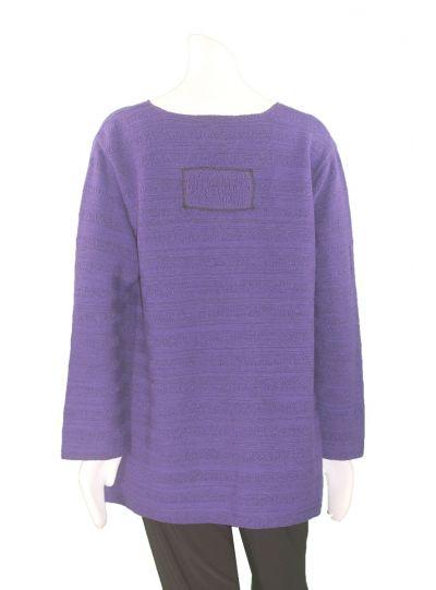 Margaret Winters Plus Size Purple Swing Sweater STP872