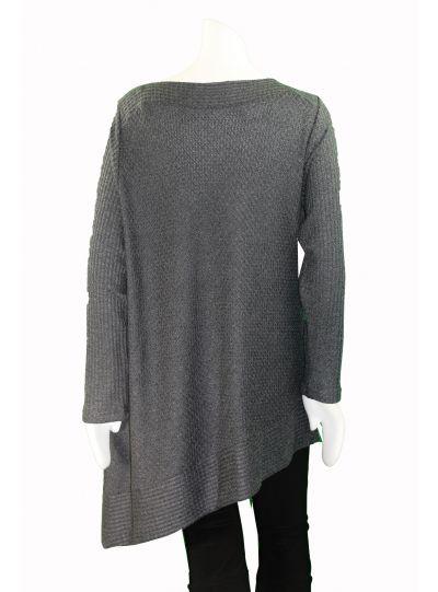 Sympli Graphite On Edge Sweater K7306W Sympli Plus