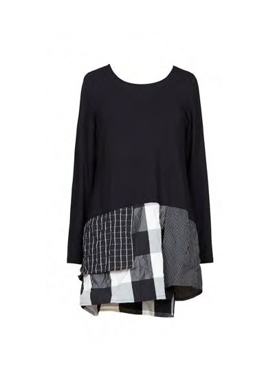 Alembika Black/White Check Pullover Tunic T912BW