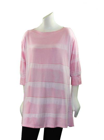 Annie Turbin Pink Pullover Style Tunic TEB
