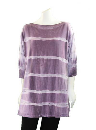Annie Turbin Purple Pullover Style Tunic TEB