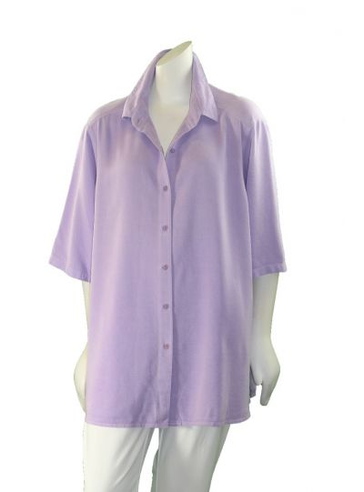 Tianello Plus Size Lychee S/S Camp Shirt T786P