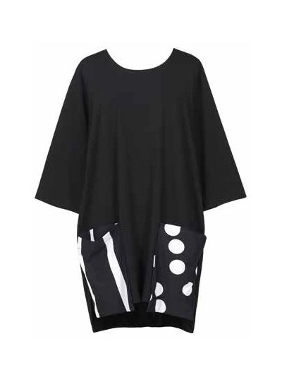 Alembika Black/Polka Dot/Striped Tunic TT623B