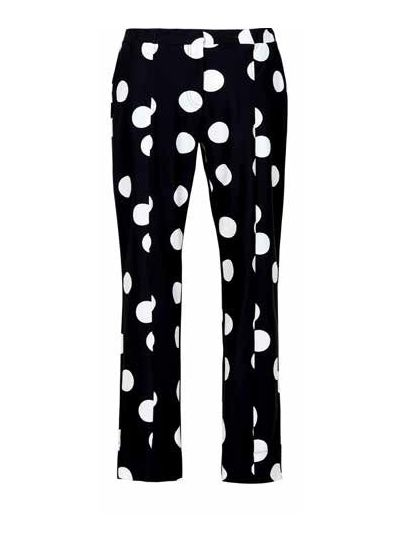 Alembika Black/White Polka Dot Slim Pant TP641B