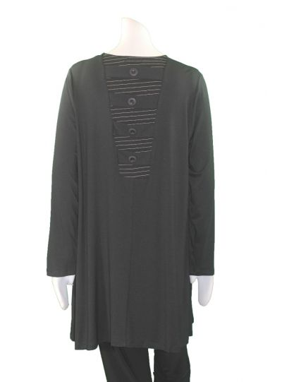 Comfy Plus Size Black Gina Tunic WM869