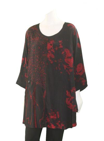 Lyng Designs Plus Size Bordeaux Sophia Tunic 1232