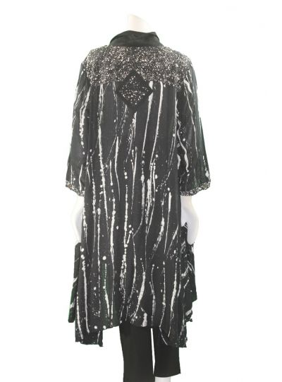 Lyng Designs Plus Size Black/White Meefah Jacket 1299