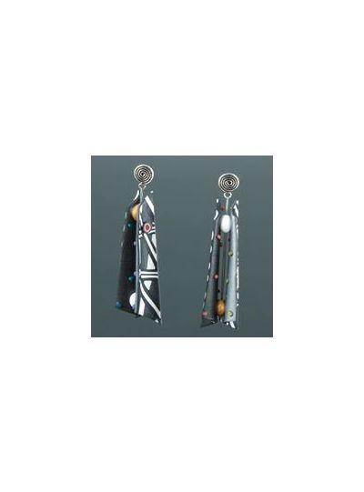 Arden Bardol Black/White Multi Razor Earring