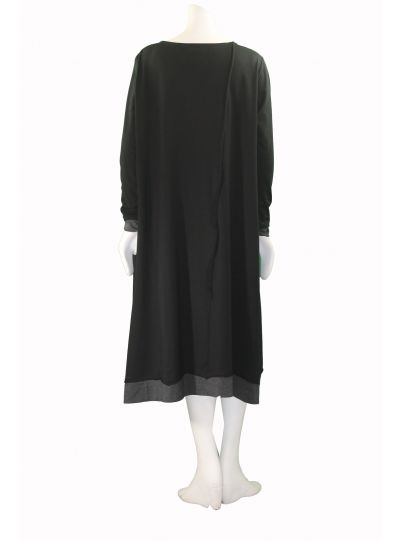 Moyuru Black/Grey Pullover Style Pocket Dress 173310