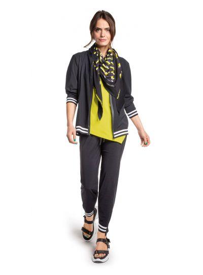 Doris Streich Plus Size Black/White Striped Pant 815-115-91