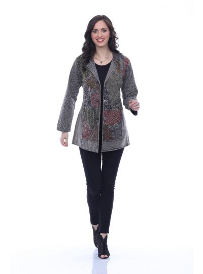 Parsley & Sage Plus Size Stone Button Jacket 19F543E32
