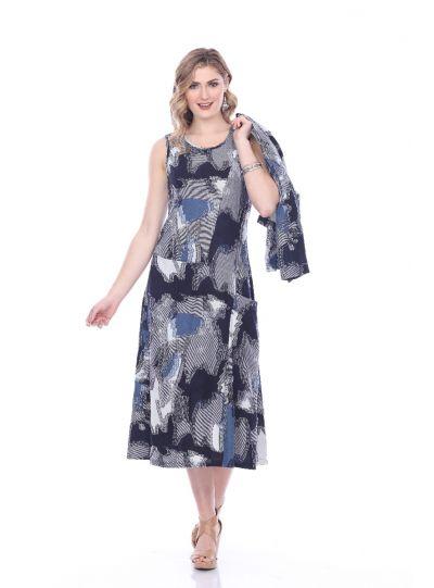Parsley & Sage Plus Size Denim Angela Dress 19T63D1