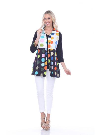 Parsley & Sage Plus Size Multi Polka Dot Vest 19T74F1