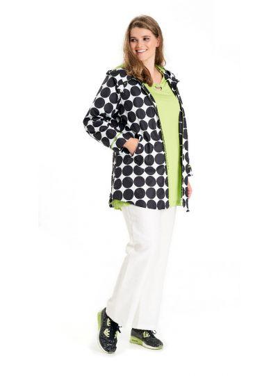 Chalou Plus Size Polka Dot Rain Coat CH6681