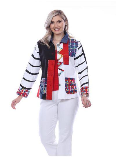 Parsley & Sage Plus Size Multi Molly Jacket 20T48E26