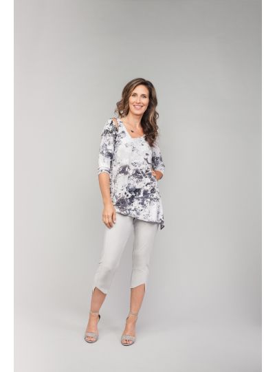 Sympli Splash Print Focus Tunic 2344-2