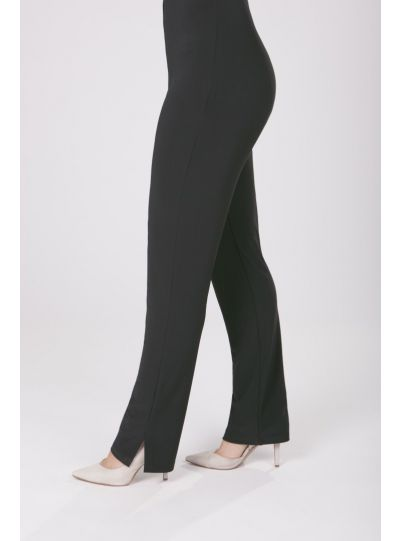 Sympli Plus Size Black Narrow Long Pant 2748L