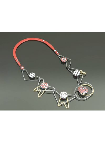 Arden Bardol Stacked Red Necklace