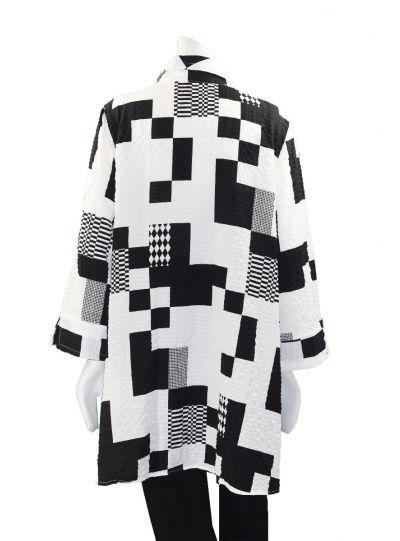 Moonlight Black/White Harlequin Printed Jacket 2771