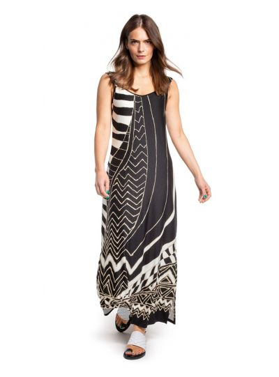 Doris Streich Black Printed Dress 693-608-82