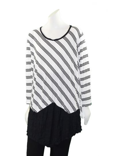 Comfy Plus Size White Striped Rachael Tunic C630