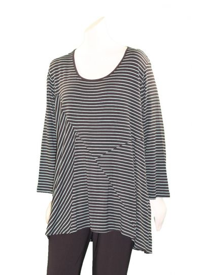 Comfy Plus Size Jade Striped Eva Top M894