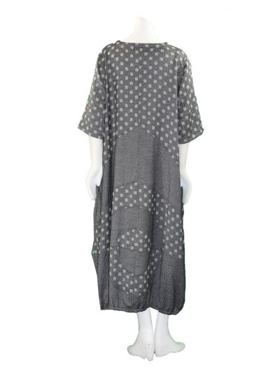 Prisa Grey Square Dot 2 Pocket Pullover Dress 3323C