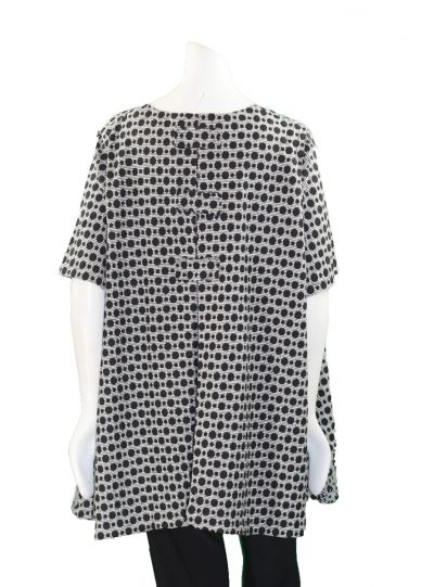 Prisa Grey/Black Polka Dot Pullover Tunic 3381C