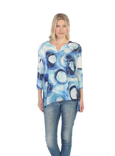 Jess & Jane Plus Size Multi Imagine Tunic 61-1375X