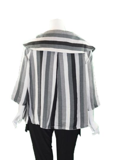 Ralston Black/Grey/White Striped Liliana Jacket 76655