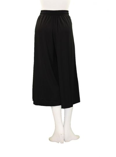 Mat Fashion Plus Size Black/White Wide Crop Pant 711.2032