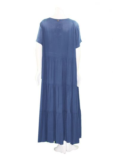 Mat Fashion Plus Size Blue Maxi Dress 711.7053