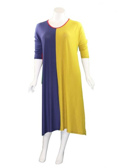 Kedem Sasson Color Block Pullover Dress 7270