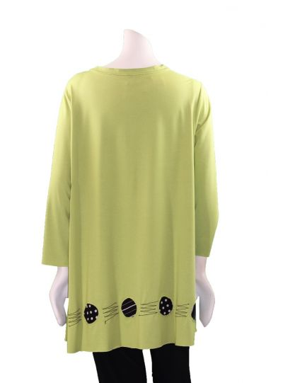Ela Plus Size Lime Pullover Circle Top 890