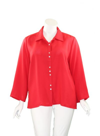Fridaze Plus Size Lipstick Fun Button Shirt AA59-CL2595
