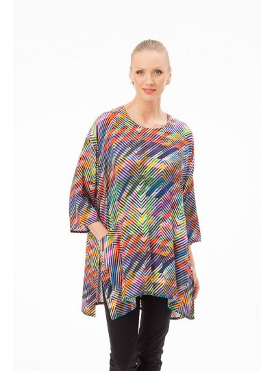 Aino Plus Size View Light Weight Pocket Tunic Darling