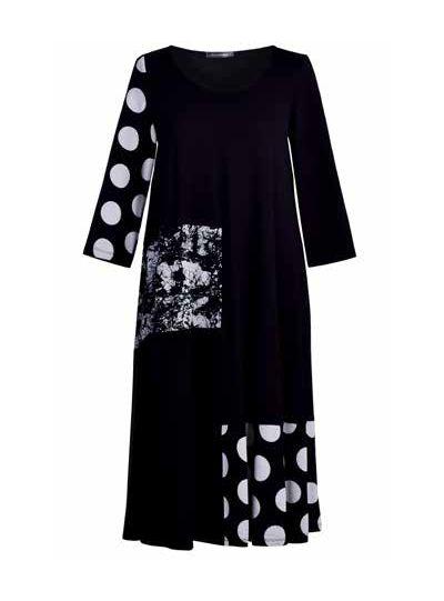 Alembika Black Mixed Media Dress SD647B