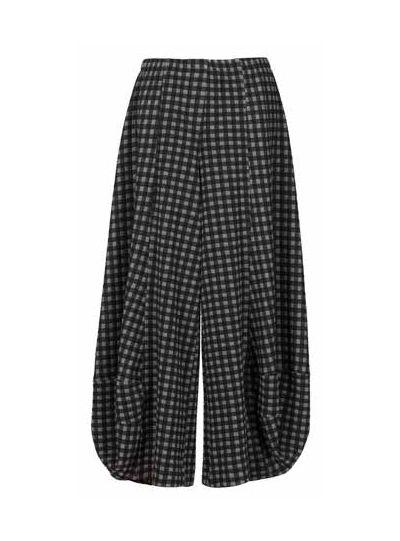 Alembika Black/Grey Check Pull On Pant AP206N