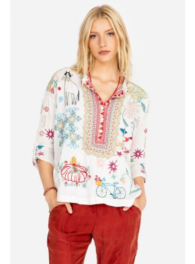 Johnny Was/Biya Natural Mishti Cotton Blouse B15819-7
